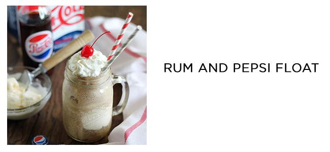 rum and pepsi float