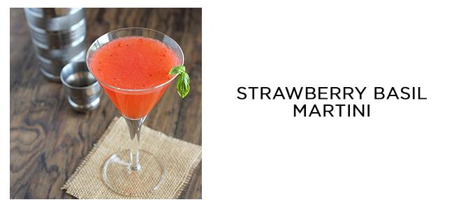 strawberry basil martini