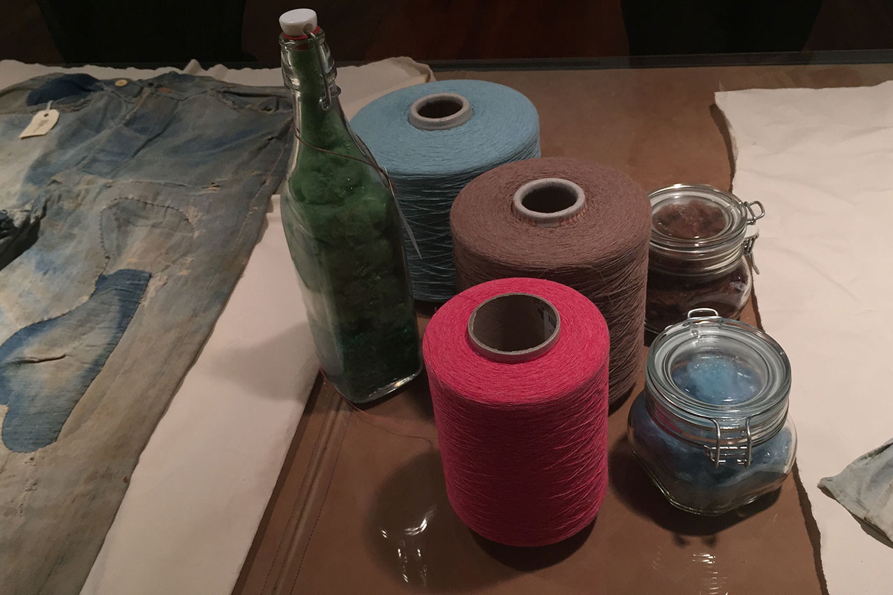 Thread made from recycled material at Cone Denim's White Oak Plant in Greensboro.