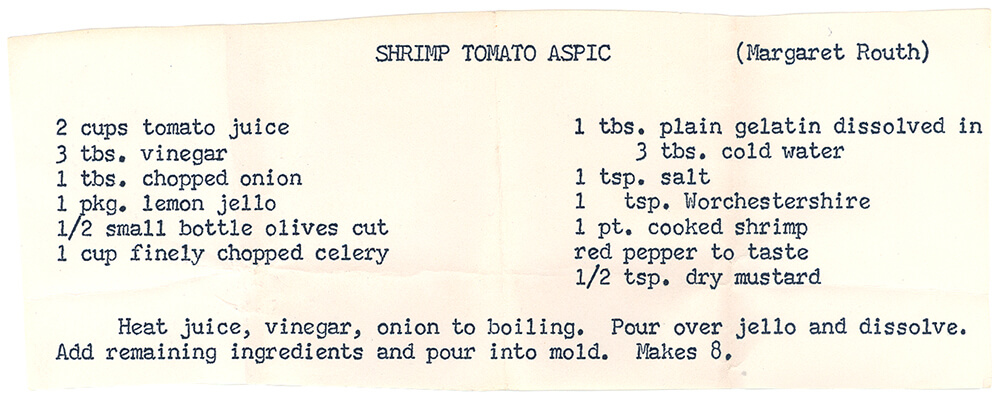 Shrimp Tomato Aspic