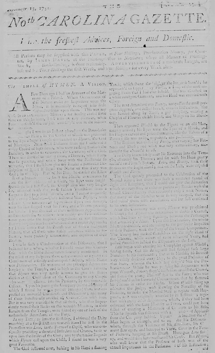 History of the North Carolina Gazette