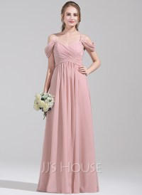 A-Line/Princess Off-the-Shoulder Floor-Length Chiffon ...