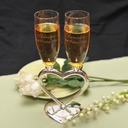 Personalized Heart design Zinc Alloy/Glass Toasting Flutes (Set of 2) (118031389)