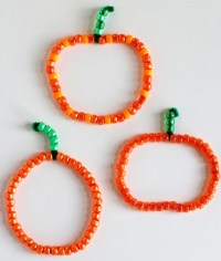 Pumpkin Beaded Pipe Cleaners