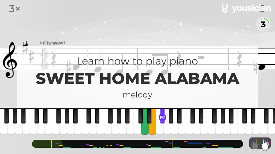✍ and the last, be artistic, be creative. Learn How To Play Sweet Home Alabama On Ukulele Yousician