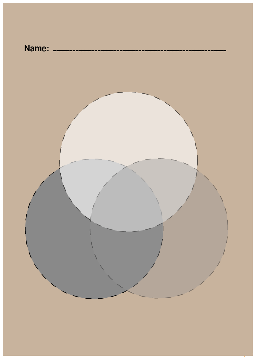 hight resolution of blank 3 set print ready venn diagram for a4 sheet