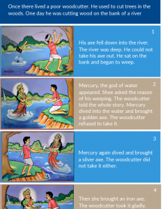 Woodcutter and his axe storyboard template also beautiful examples for students kids general usage rh creately