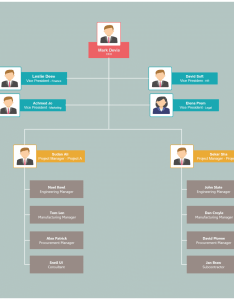 Organizational chart templates for project structure also editable online and free to download rh creately