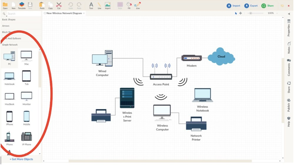 medium resolution of create a network diagram network diagram guide