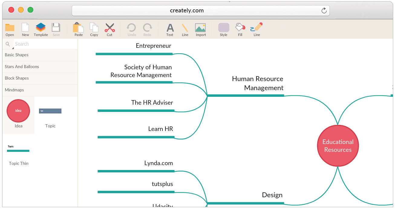 hight resolution of mind map maker to map ideas visually