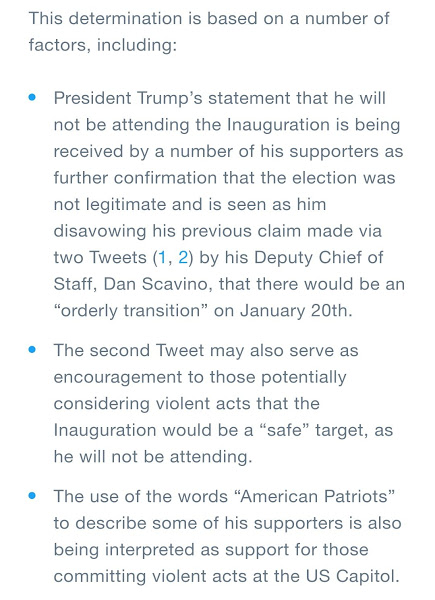 Twitter ferme le compte de Trump — Google, Amazon et Apple font pression sur Parler — CNN veut faire éliminer Fox News du câble