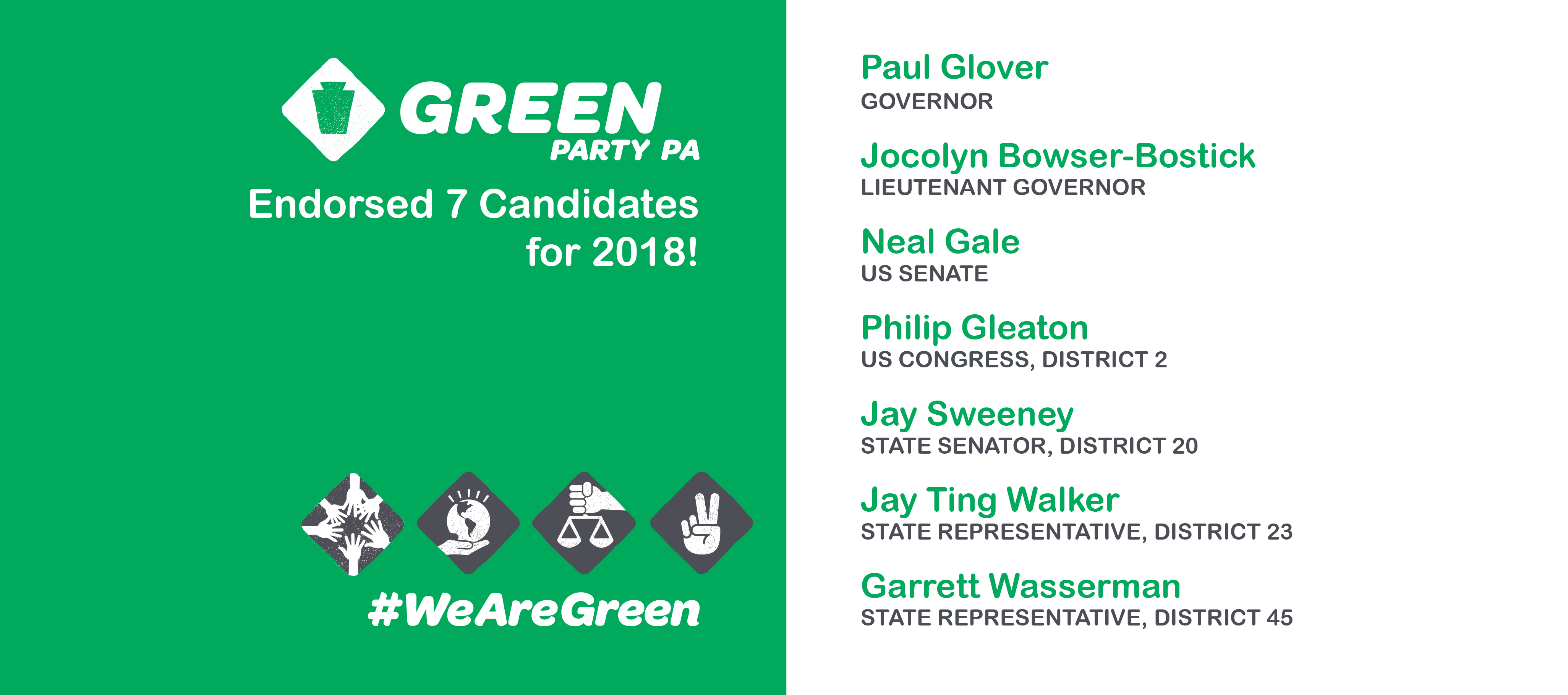 Green Party Of Pennsylvania Announces Seven Candidates For 2018 State And  National Election