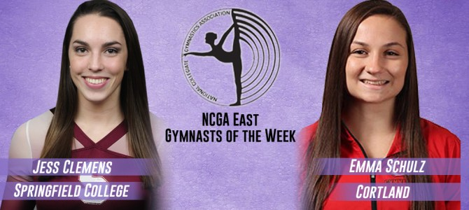 Clemens and Schulz Earn NCGA East Gymnast of the Week Honors