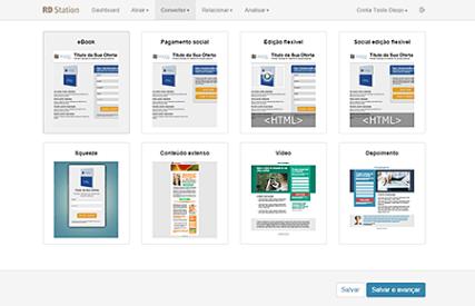 funcionalidade landing pages