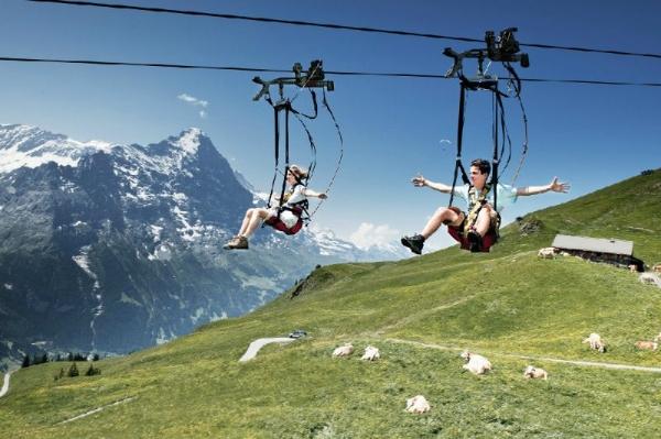 Grindelwald-First Adventure Tour from Zurich: Cliff Walk - Zip Line - Mountain Cart
