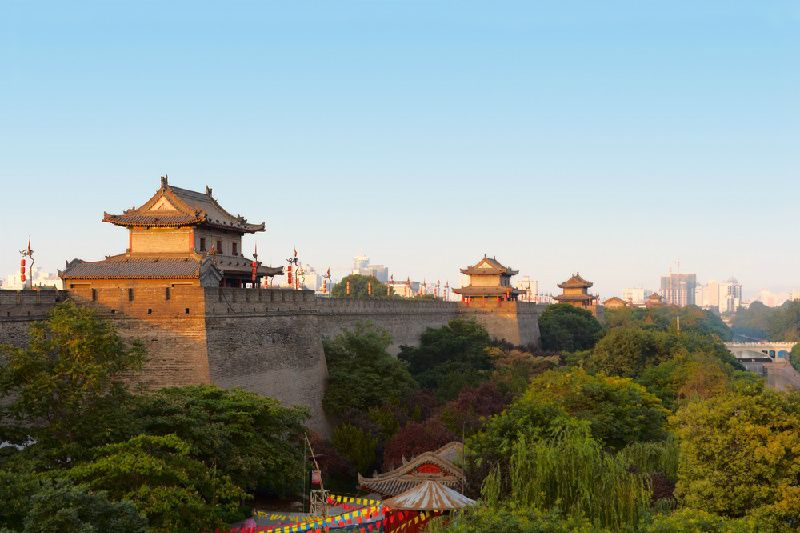 Private Xi'an City Wall Park Tour + Foodie Experience at Yongxingfang