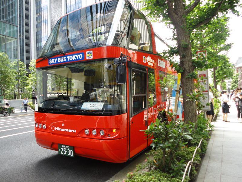 【SKY HOP BUS】Hop-on hop-off Tokyo Sightseeing Bus