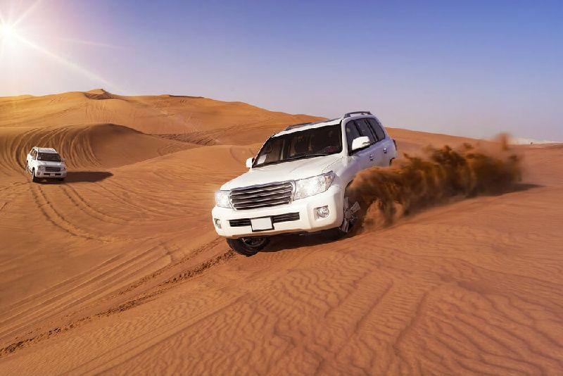 Dubai Morning Dunes Bashing With Sand Boarding and Camel Ride