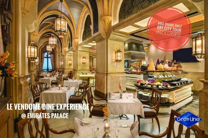 DINE experience at Emirates Palace with DISCOVER ABU DHABI Tour