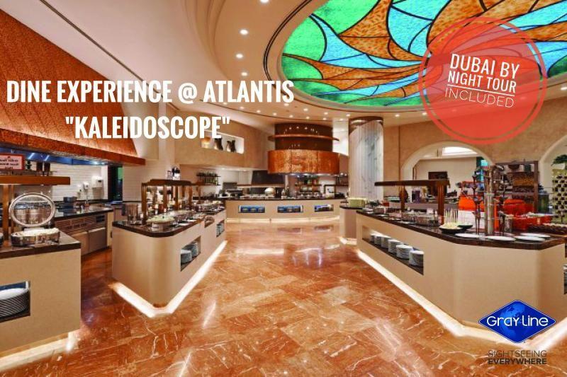 DINE experience at ATLANTIS with DISCOVER DUBAI by NIGHT