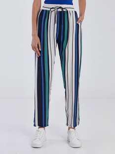 Ριγέ παντελόνι με τσέπες από βαμβάκι SG1675.1251+1