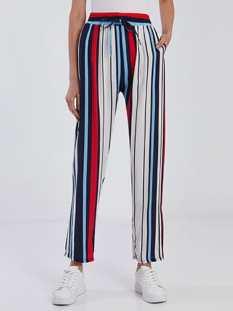 Βαμβακερό παντελόνι με ρίγες SG1675.1251A+2