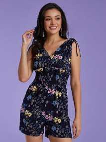 Floral ολόσωμη φόρμα με σφηκοφωλιά SG9846.1022+2