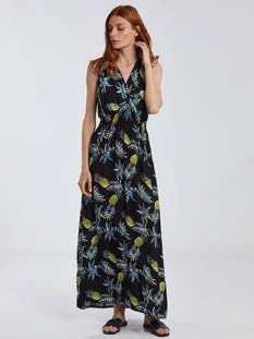 Maxi φόρεμα σε τροπικό μοτίβο SG9888.8071+2