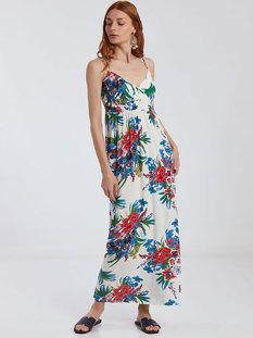 Floral κρουαζέ maxi φόρεμα SG9888.8955+1