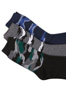 Σετ με 3 ζευγάρια ανδρικές κάλτσες παραλλαγής WE9851.0821+3