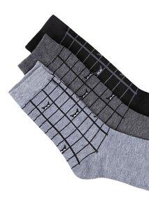 Σετ με 3 ζευγάρια ανδρικές κάλτσες WE9869.0213+1