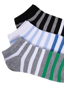 Σετ με 3 ζευγάρια ανδρικές ριγέ κάλτσες WE9869.0465+2