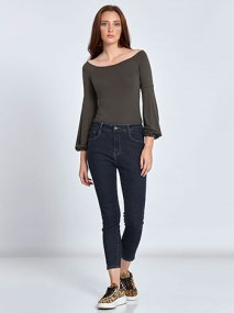 Skinny cropped τζιν παντελόνι WL196.1093+1