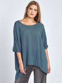Plus size κοντομάνικη μπλούζα WL4800.4001+4