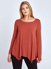 Plus size μακρυμάνικη μπλούζα με μύτες WL4801.4002+7