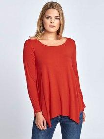 Plus size μακρυμάνικη μπλούζα με μύτες WL4801.4002+2