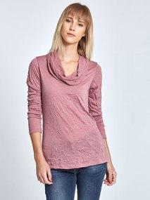 Ντραπέ μπλούζα από ύφασμα crinkle WL4808.4001+7