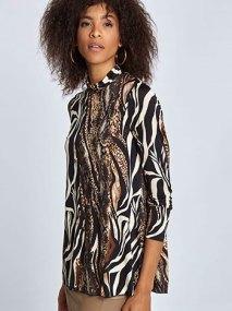 Ζιβάγκο μπλούζα σε animal print WL4856.4003+1