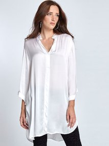 Μακριά μπλούζα με σατέν όψη WL7783.3580A+1