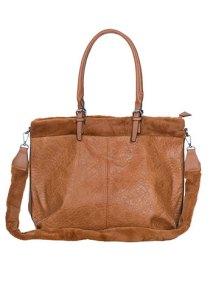 Τσάντα με λεπτομέρεια συνθετικής γούνας WL7871.A002+2