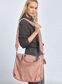Τσάντα με λεπτομέρεια συνθετικής γούνας WL7871.A002+6