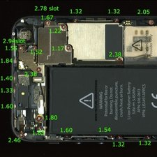 iphone 4 screw layout diagram rj11 to rj45 wiring solved size and 5s ifixit