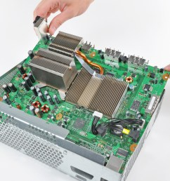 xbox 360 motherboard replacement ifixit repair guide rh ifixit com xbox 360 slim motherboard schematic diagram xbox 360 controller motherboard diagram [ 2966 x 2225 Pixel ]