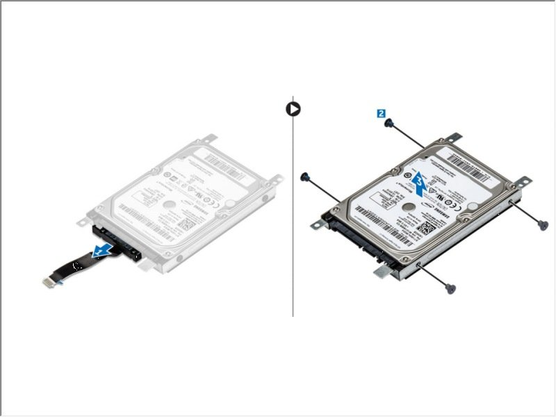 Dell Vostro 15 3568 Hard Drive Bracket Replacement