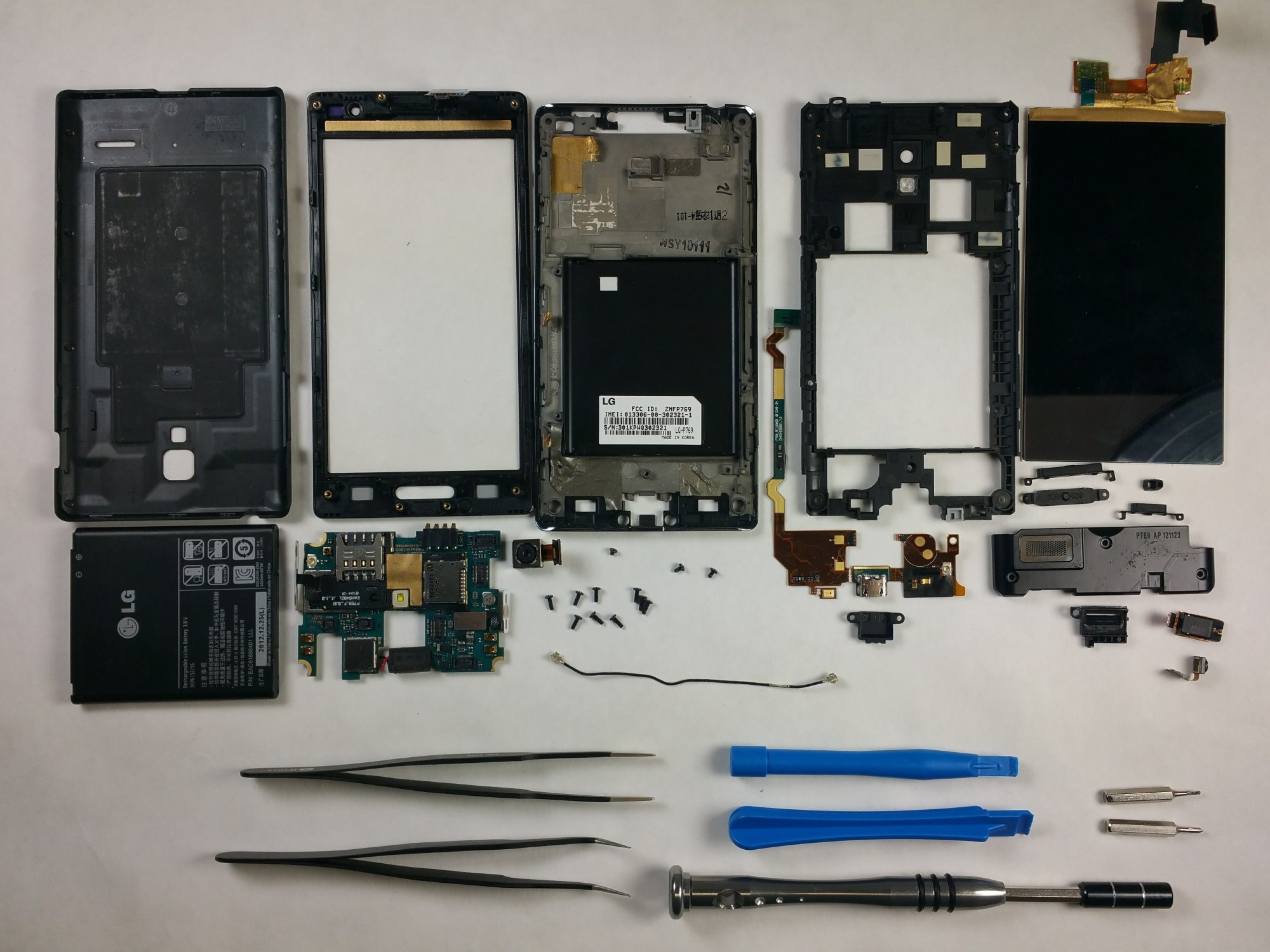 hight resolution of lg optimus l9 p769 teardown ifixit