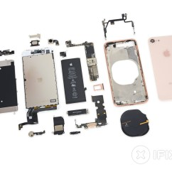 Iphone 4 Disassembly Diagram Ceiling Fan With Light Wiring One Switch Diagrams For Lights Fans And 8 Teardown Ifixit