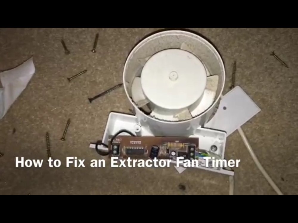 medium resolution of how to fix an extractor fan timer circuit