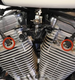 harley davidson sportster evolution spark plugs replacement ifixit repair guide [ 3797 x 2848 Pixel ]