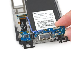 samsung galaxy s5 micro usb port daughterboard replacement ifixit repair guide [ 4659 x 3494 Pixel ]