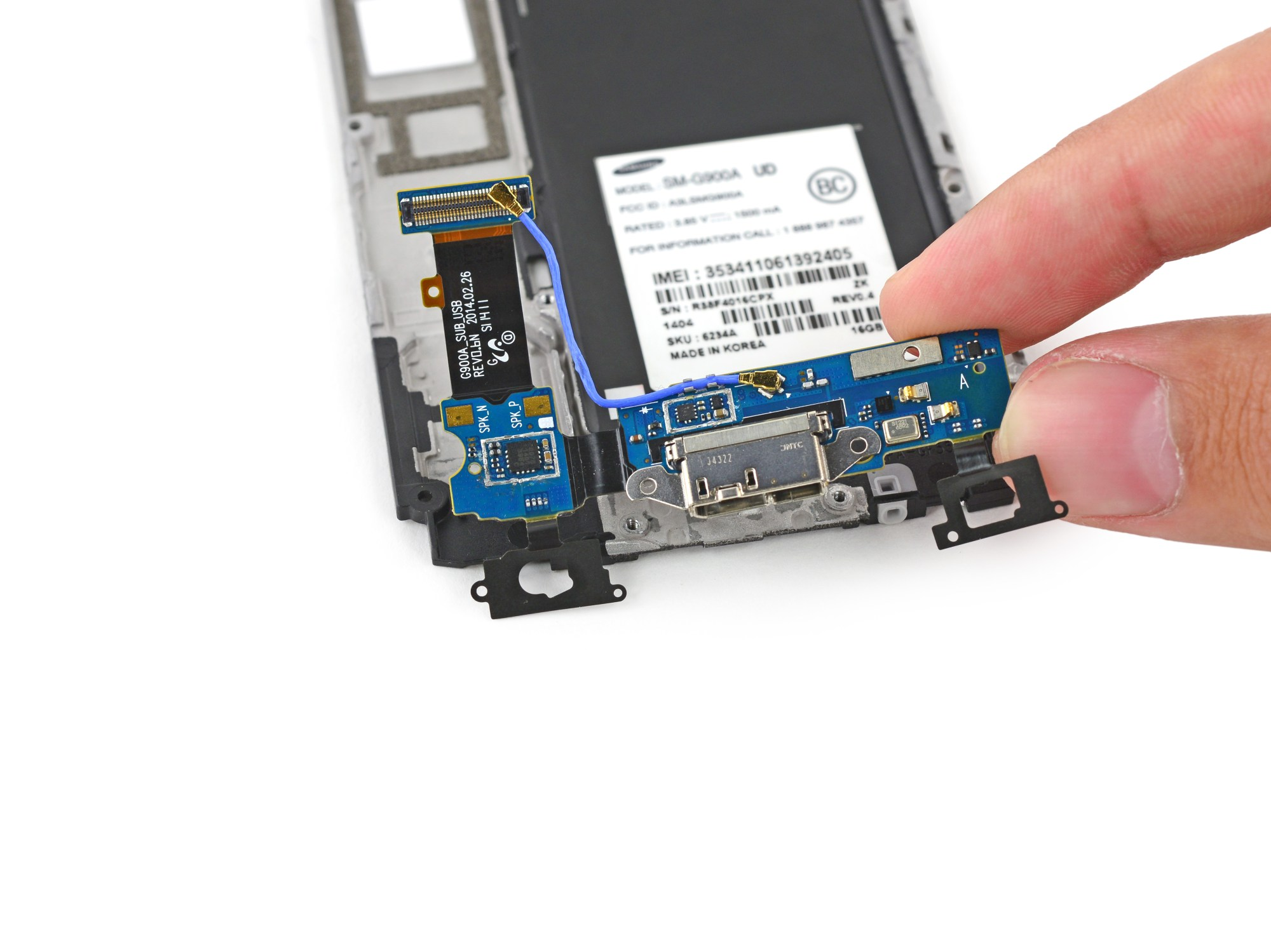 hight resolution of samsung galaxy s5 micro usb port daughterboard replacement ifixit repair guide